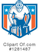 Cyclist Clipart #1281487 by patrimonio