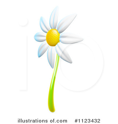 Daisy Clipart #1123432 - Illustration by Leo Blanchette