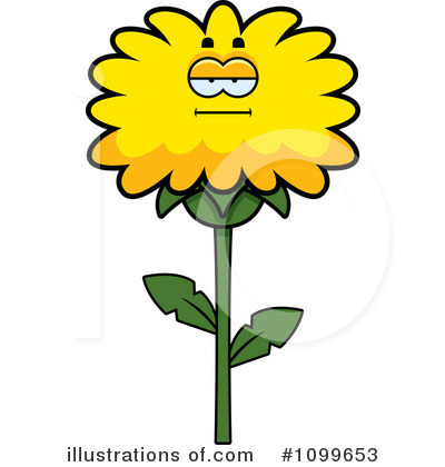 Dandelion Clipart #1099653 - Illustration by Cory Thoman