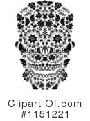 Day Of The Dead Clipart #1151221 by lineartestpilot