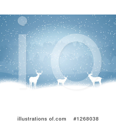 Winter Landscape Clipart #1268038 by KJ Pargeter