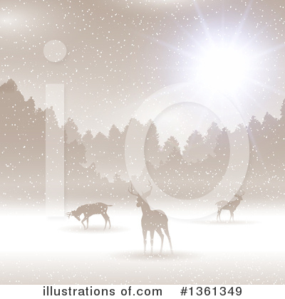 Winter Landscape Clipart #1361349 by KJ Pargeter