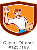 Delivery Man Clipart #1257189 by patrimonio