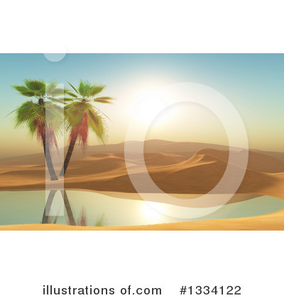Palm Trees Clipart #1334122 by KJ Pargeter