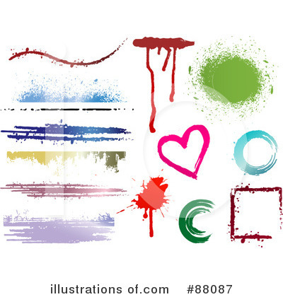 Splatters Clipart #88087 by KJ Pargeter