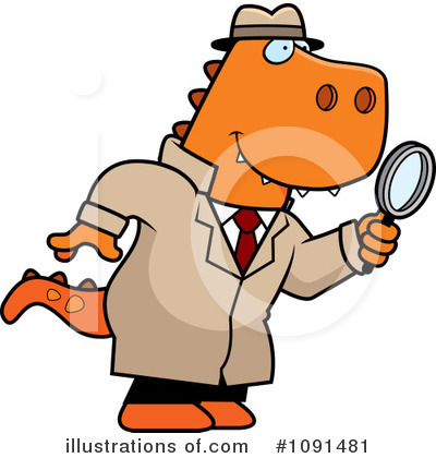Detective Clipart #1091481 - Illustration by Cory Thoman