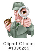 Detective Clipart #1396269 by AtStockIllustration
