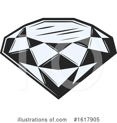 Diamond Clipart #1617905 by Vector Tradition SM