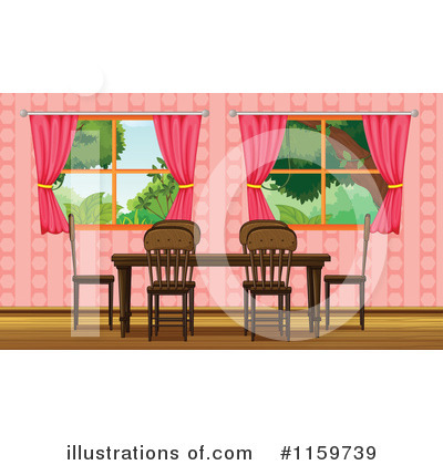 Royalty Free (RF) Dining Room Clipart Illustration By Graphics RF   Stock  Sample