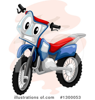 Dirt Bike Clipart #1300053 - Illustration by BNP Design Studio