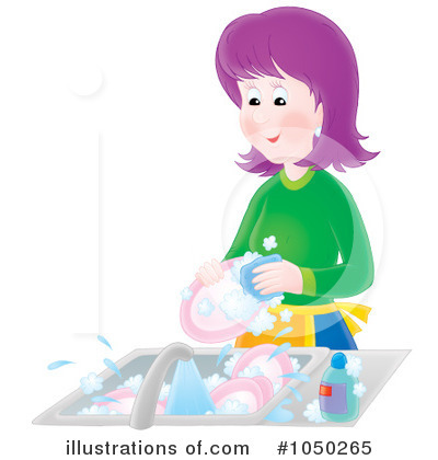 Washing Dishes Clipart #1050265 by Alex Bannykh