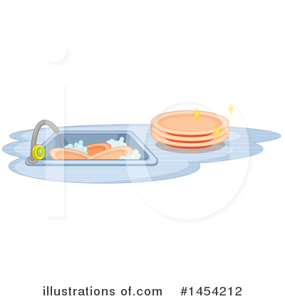 Washing Dishes Clipart #1454212 by Graphics RF