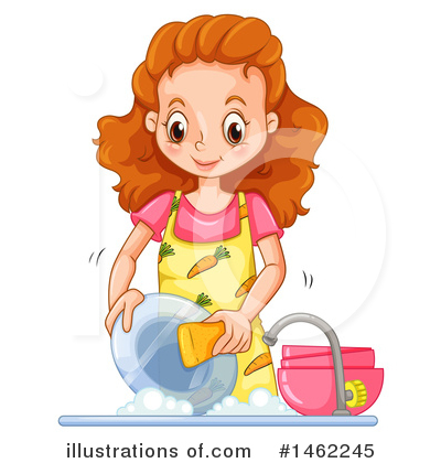 Washing Dishes Clipart #1462245 by Graphics RF