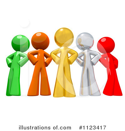 Orange Man Clipart #1123417 by Leo Blanchette