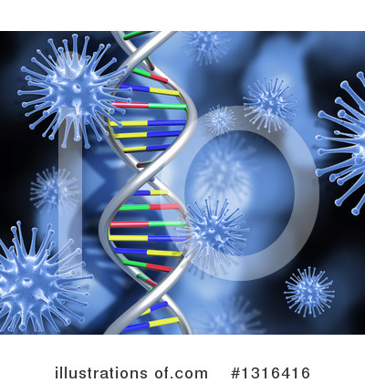 Dna Clipart #1316416 by KJ Pargeter