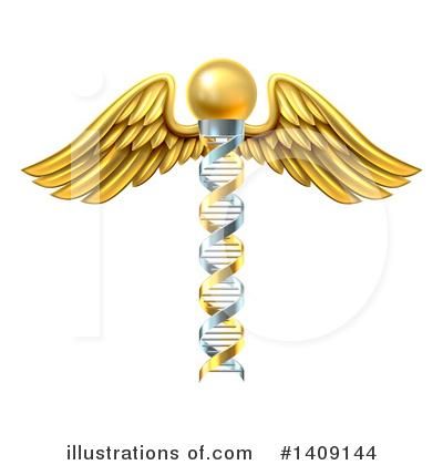 Caduceus Clipart #1409144 by AtStockIllustration