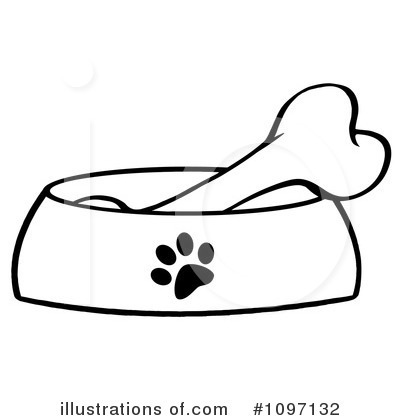 Dog Bone Clipart #1097132 - Illustration by Hit Toon