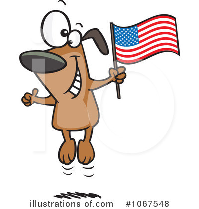 American Flag Clipart #1067548 by toonaday