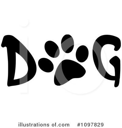 Paw Prints Clipart #1097829 by Hit Toon