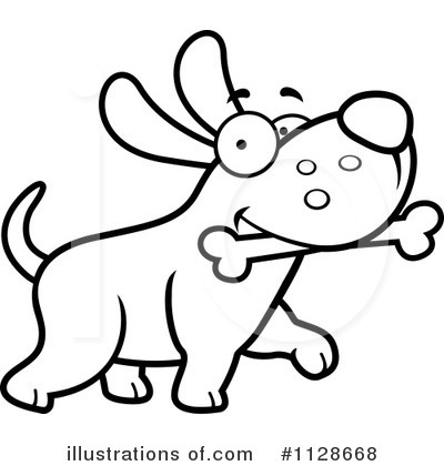 Dog Clipart #1128668 - Illustration by Cory Thoman
