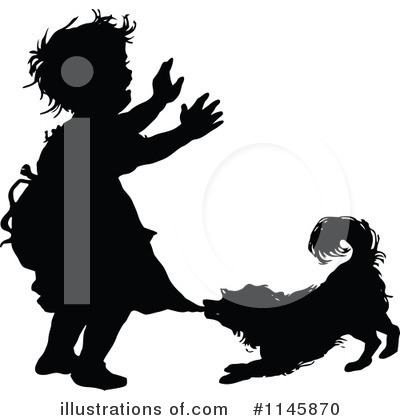 Royalty-Free (RF) Dog Clipart Illustration by Prawny Vintage - Stock Sample #1145870