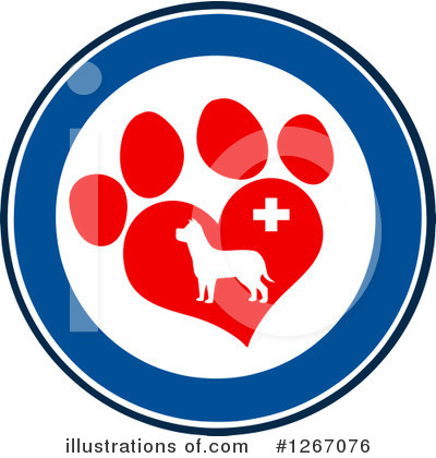 Paw Prints Clipart #1267076 by Hit Toon