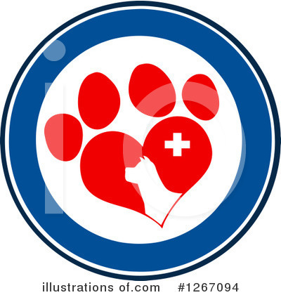 Paw Prints Clipart #1267094 by Hit Toon