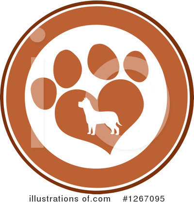 Paw Prints Clipart #1267095 by Hit Toon