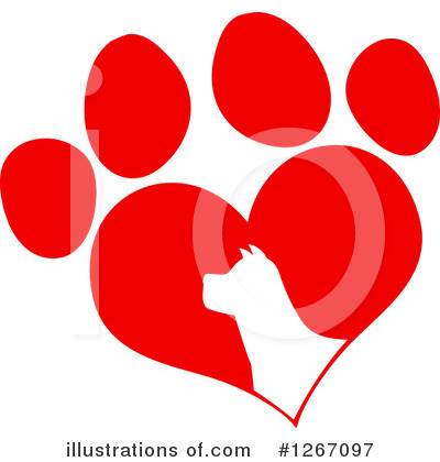 Paw Prints Clipart #1267097 by Hit Toon