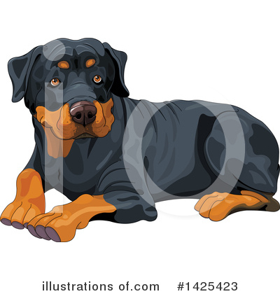 Rottweiler Clipart #1425423 by Pushkin