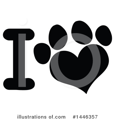 Paw Prints Clipart #1446357 by Hit Toon