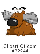 Dog Clipart #32244 by Hit Toon