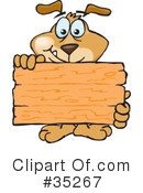 Dog Clipart #35267 by Dennis Holmes Designs