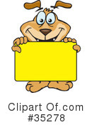 Dog Clipart #35278 by Dennis Holmes Designs