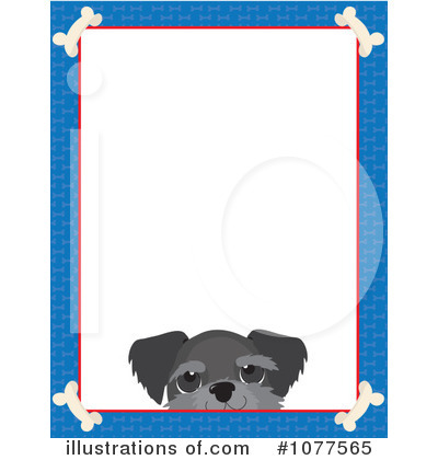 royalty free rf dog frame clipart illustration by maria bell stock sample - Dog Frames