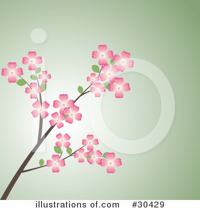 Blossoms Clipart #30429 by Melisende Vector