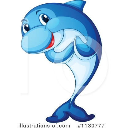 Dolphin Clipart #1130777 - Illustration by colematt