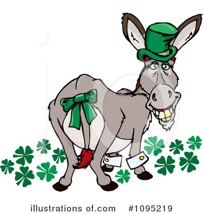 Royalty-Free (RF) Donkey Clipart Illustration by Dennis Holmes Designs - Stock Sample #1095219