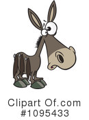 Donkey Clipart #1095433 by toonaday