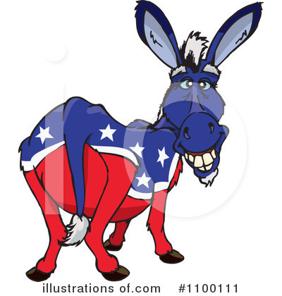 Donkey Clipart #1100111 by Dennis Holmes Designs