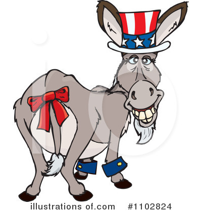 Donkey Clipart #1102824 by Dennis Holmes Designs