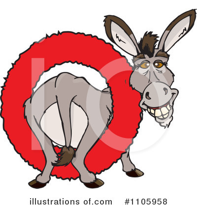 Donkey Clipart #1105958 by Dennis Holmes Designs