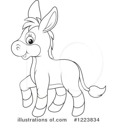 Donkey Clipart #1223834 - Illustration by Alex Bannykh