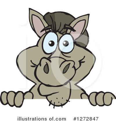 Donkey Clipart #1272847 by Dennis Holmes Designs
