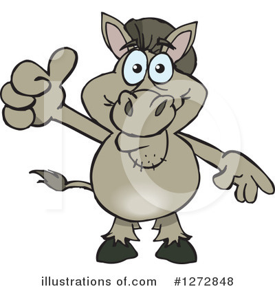 Donkey Clipart #1272848 by Dennis Holmes Designs