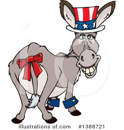 Donkey Clipart #1388721 by Dennis Holmes Designs