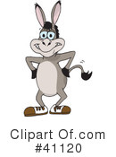 Donkey Clipart #41120 by Dennis Holmes Designs