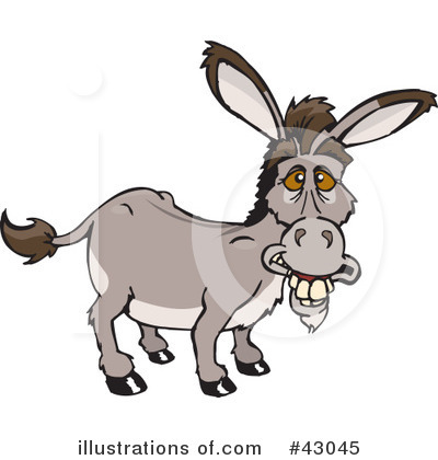 Donkey Clipart #43045 by Dennis Holmes Designs