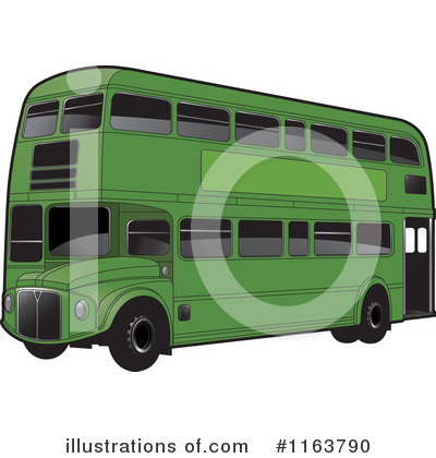Double Decker Clipart #1163790 by Lal Perera