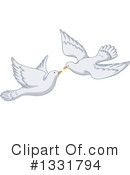 Doves Clipart #1331794 by Liron Peer